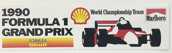 シェル(Shell) 1990年 マクラーレン プロモーションステッカー