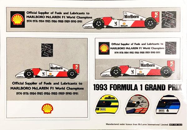 シェル(Shell) 1993年 マクラーレン プロモーションステッカーセット