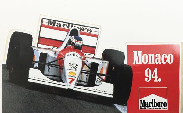 マールボロ(Marlboro)1994年 モナコGP プロモーションステッカー