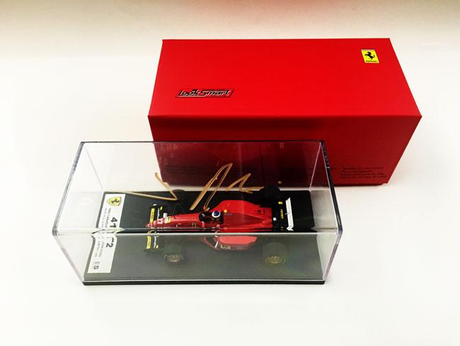 J.アレジ 直筆サイン入 ルックスマート 1/43 フェラーリ 412T2 1995年カナダGP 初優勝モデル