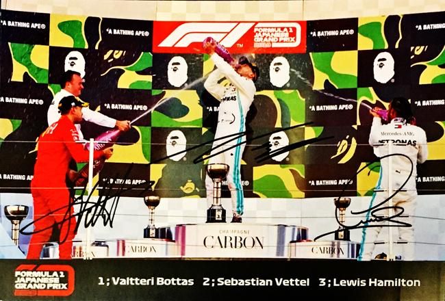 2019 F1日本GP 鈴鹿 ポディウムカード ※サイズ:10×15cm