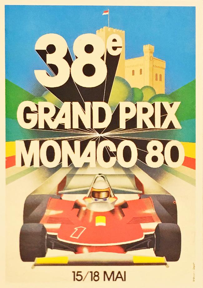 F1モナコGP 1980 公式ポストカード
