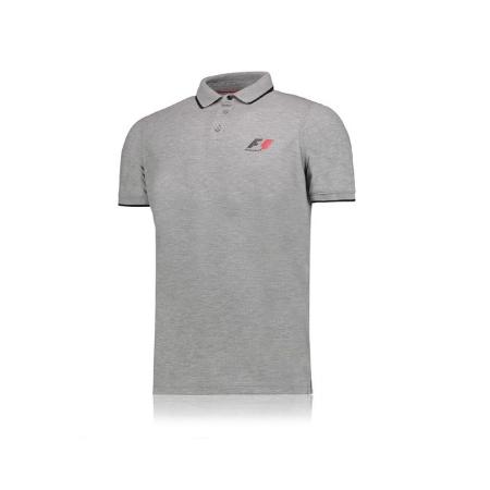 F1 公式 ポロシャツ カラーグレー サイズM(日本サイズL)