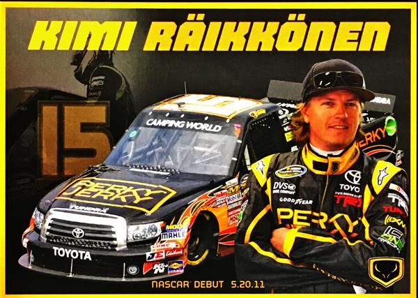 2011 K.ライコネン  NASCAR参戦 ドライバーズカード