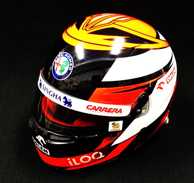 【再入荷】K.ライコネン 2020 アルファロメオF1チーム 1/2 ヘルメット