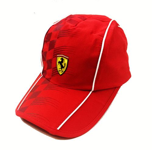 フェラーリストア限定 フェラーリ スクーデッド フラッグキャップ レッド