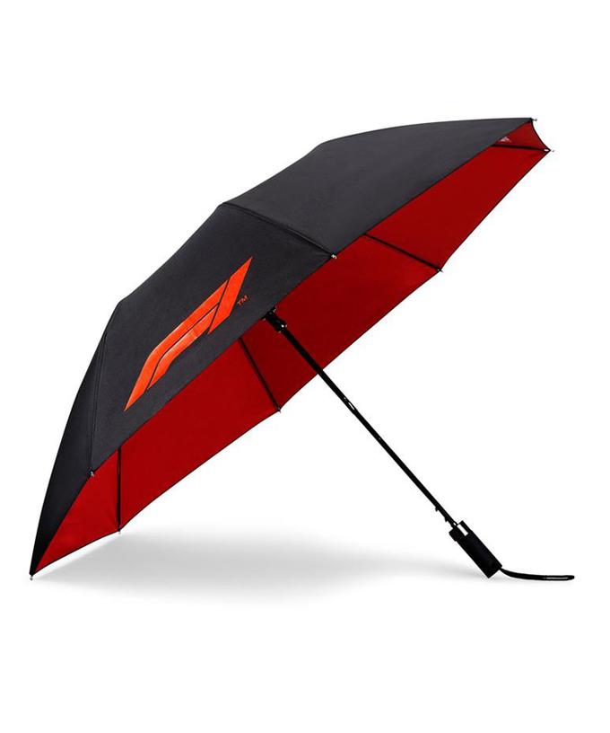 F1 オフィシャルコレクション Formula1ロゴ コンパクト アンブレラ(折りたたみ傘)