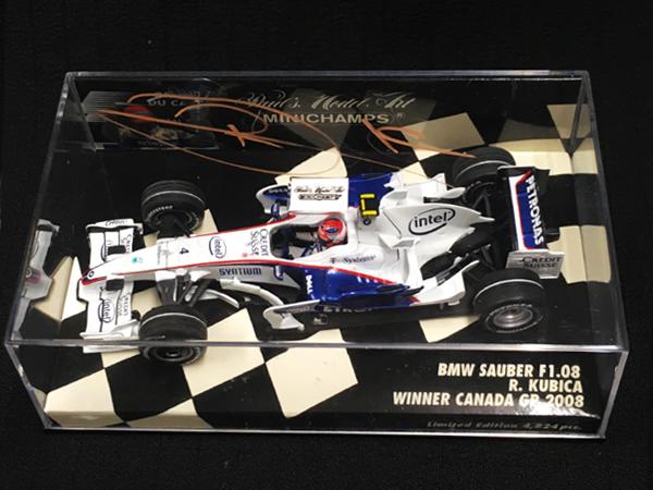 R.クビサ直筆サイン入 ミニチャンプス 1/43 ザウバーF1.08 2008年カナダGP優勝
