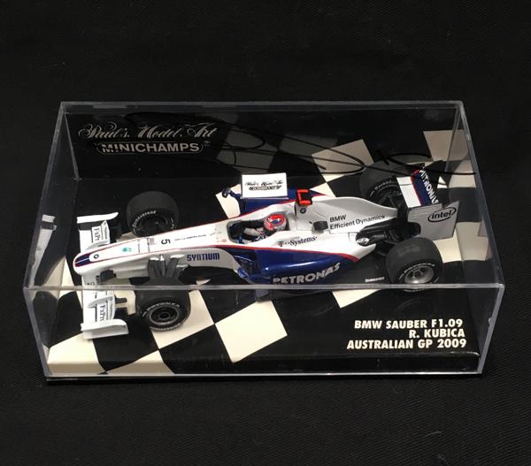 R.クビサ直筆サイン入 ミニチャンプス 1/43 ザウバー F1.09 2008年オーストラリアGP優勝