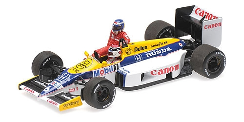ミニチャンプス 1/43 ウィリアムズ ホンダ FW11 K.ロズベルグ 1986年ドイツGP ライドオン N.ピケ