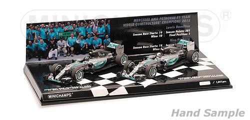 ミニチャンプス 1/43 メルセデス W06 2015年コンストラクターワールドチャンピオン 2台セット