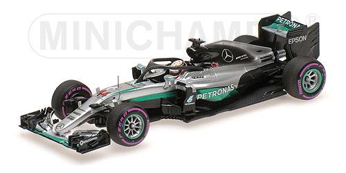 ミニチャンプス 1/43 メルセデス F1 W07 L.ハミルトン HALOテスト 2016年シンガポールGP