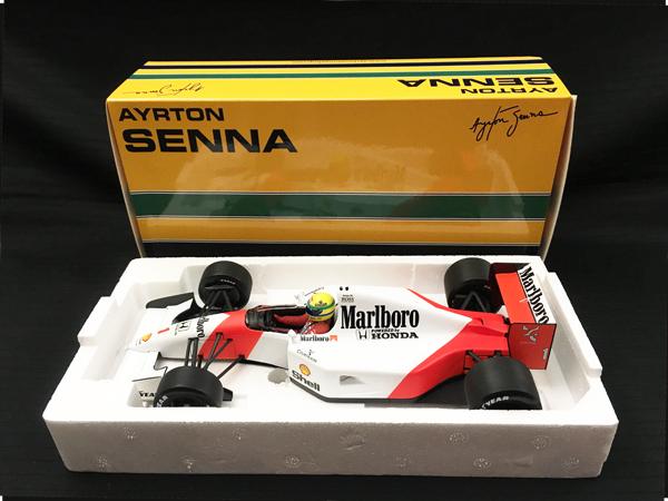 ミニチャンプス 1/18 マクラーレン ホンダ MP4/7 A.セナ 1992年 セナコレクション 当店オリジナルタバコロゴモデル