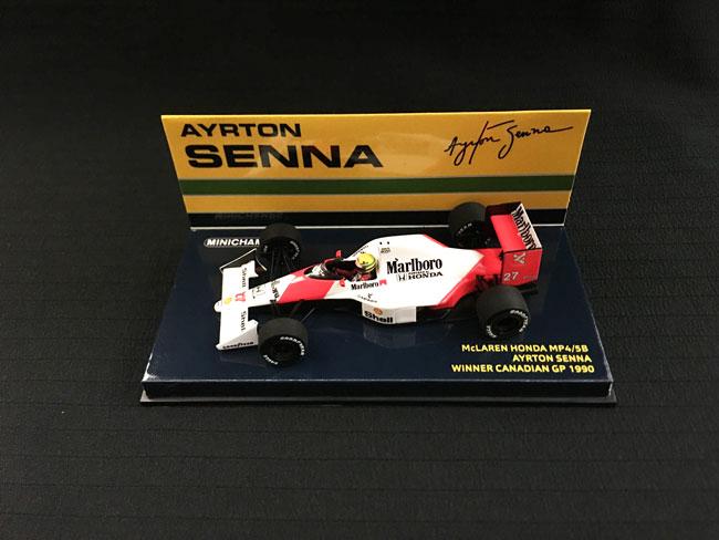 ミニチャンプス 1/43 マクラーレン ホンダ MP4/5B A.セナ 1990年カナダGP優勝 当店オリジナルタバコロゴモデル