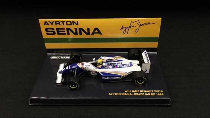 ミニチャンプス 1/43 ウィリアムズ FW16 A.セナ 1994年ブラジルGP 当店オリジナルタバコロゴモデル