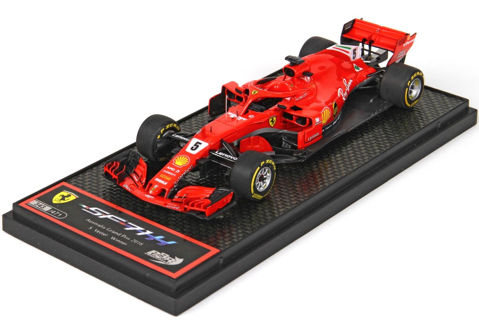 BBR 1/43 フェラーリ SF71H S.ベッテル 2018年オーストラリアGP優勝 限定