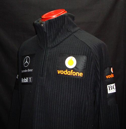 【SALE】2011 マクラーレン チーム支給品 ZIPフリース  USED サイズL HUGOBOSS製