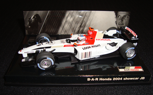 ミニチャンプス 1/43 BARチーム別注ボックス BAR HONDA ホンダ 2004ショーカーJ.バトン
