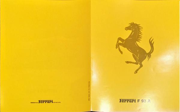 1993年 FERRARI(フェラーリ) F93A F1マシンスペックカタログ