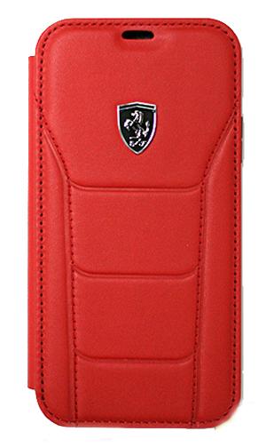 """フェラーリiPhoneX カバー """"488 Genuine Leather Booktype Case RED"""""""