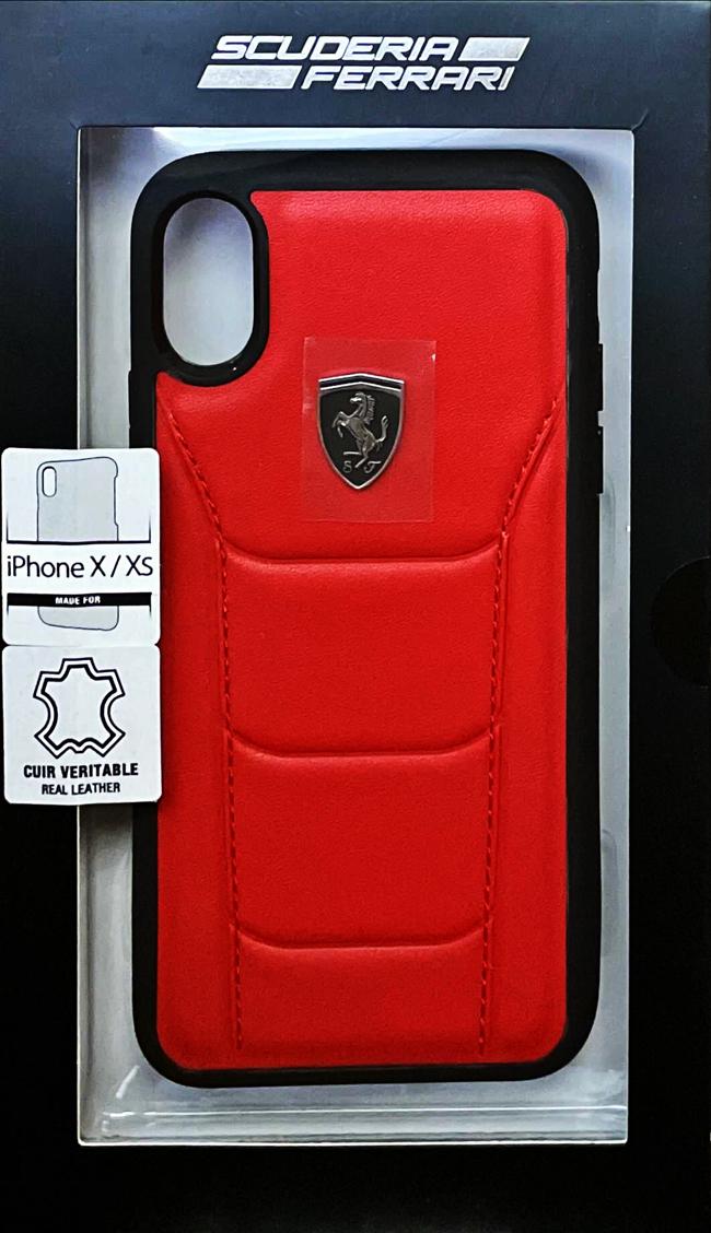 """フェラーリiPhoneX カバー """"Ferrari 488 Genuine Leather Hard Case RED"""""""