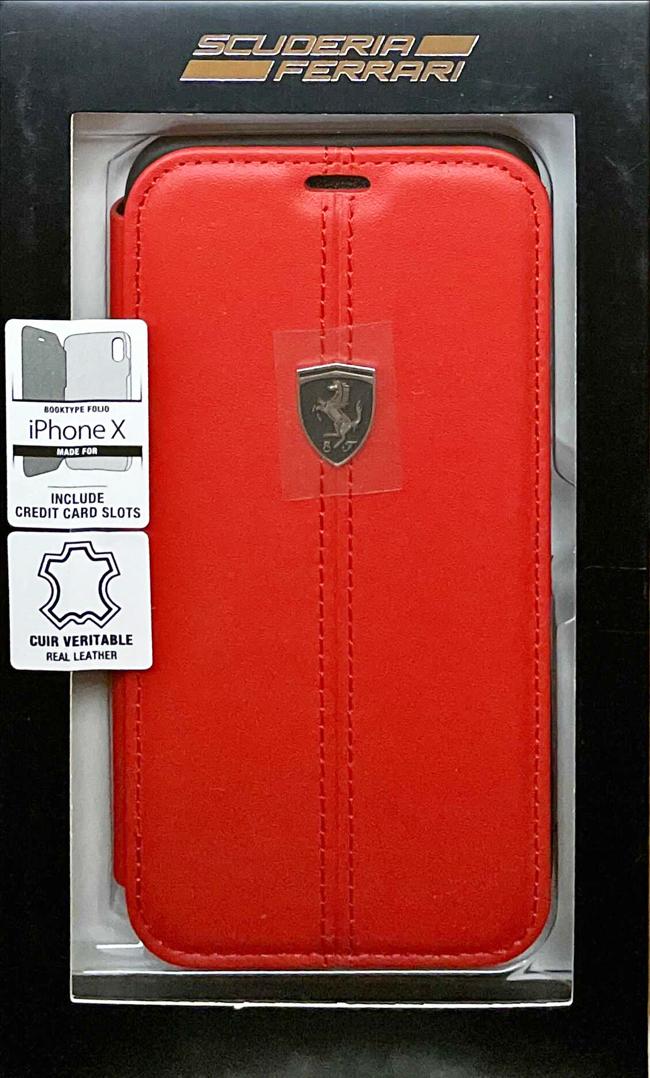 """フェラーリiPhoneX カバー """"Ferrari - Booktype Case RED"""""""
