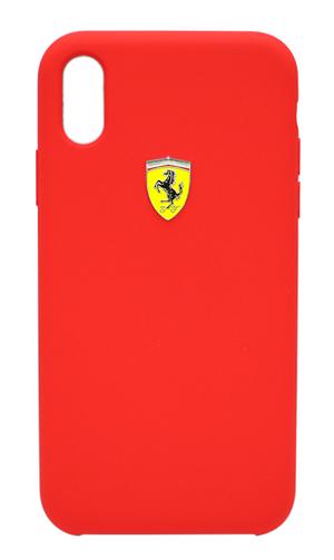 """フェラーリiPhoneXR カバー """"Ferrari - SF-Silicon Case RED"""" レッド"""