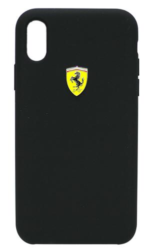 """フェラーリiPhoneXs Max カバー """"Ferrari - SF-Silicon Case BLACK"""" ブラック"""