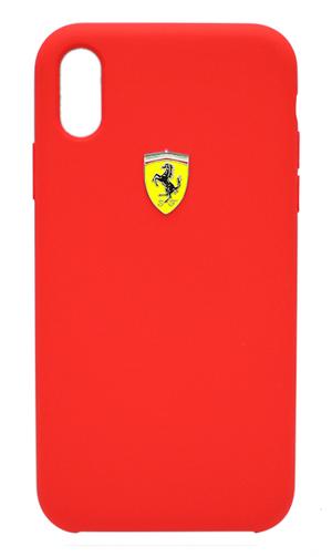 """フェラーリiPhoneXs Max カバー """"Ferrari - SF-Silicon Case RED"""" レッド"""