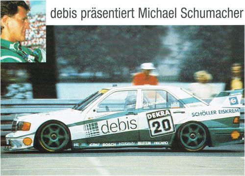 1991 DTM メルセデス 190 Evo M.シューマッハ debis スポンサーカード
