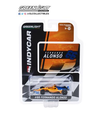【並行輸入品・再入荷】GL10845 グリーンライト 1/64 マクラーレンレーシング F.アロンソ 2019年インディ500 NO.66