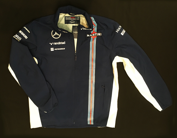【SALE】2016年 ウィリアムズ チーム支給品 チームレインジャケット USED サイズL
