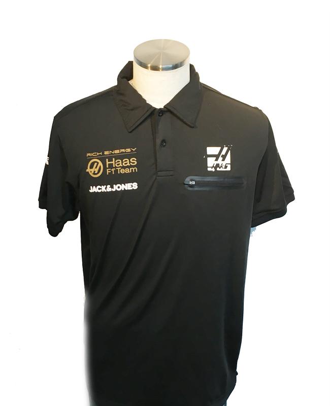 ハースF1チーム 2019 チーム支給品 チーム襟付きシャツ サイズL USED