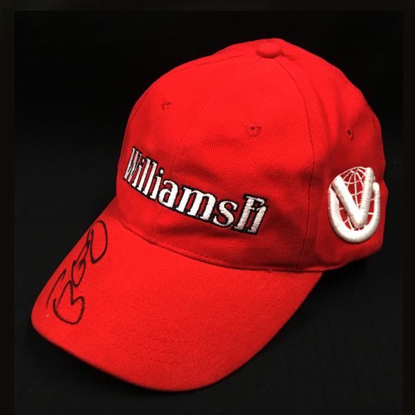 【SALE】R.シューマッハ ウィリアムズ時代(赤) 直筆サイン入 キャップ