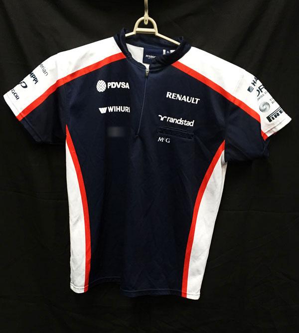 【SALE】2013 ウィリアムズ チーム支給品 ZIPTシャツ USED サイズXL