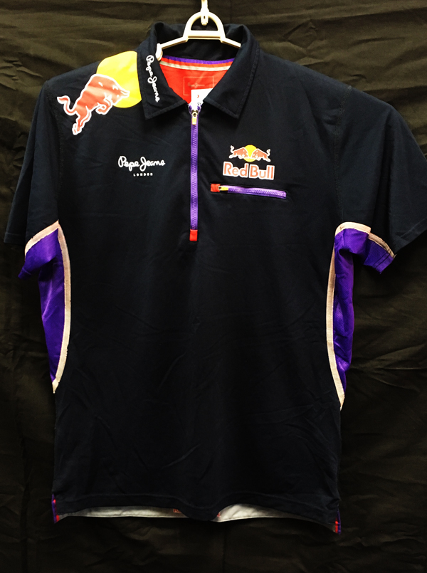 2014 レッドブル チーム支給品 チームZIPポロシャツ USED サイズL