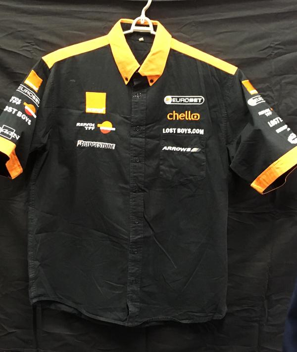 2000 オレンジアロウズ チーム支給品 チームPIT(ピット)シャツ USED サイズL