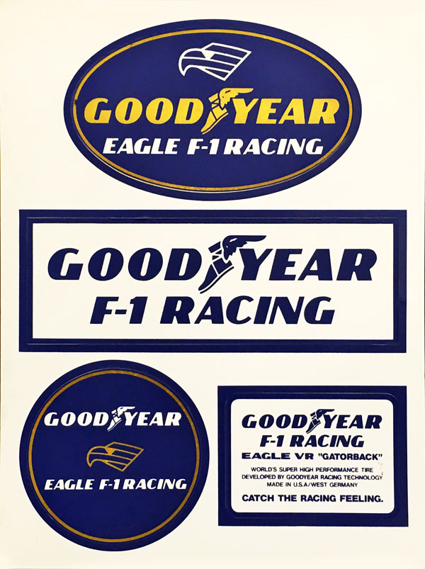 GOODYEAR F1 プロモーションステッカーセット