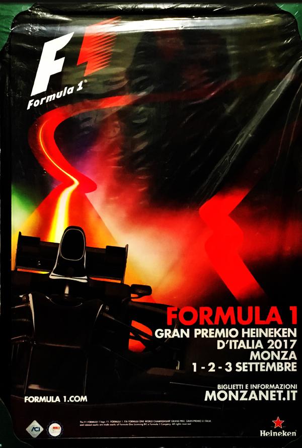 2017 F1イタリアGP 開催記念 公式BIGポスター(額装品)