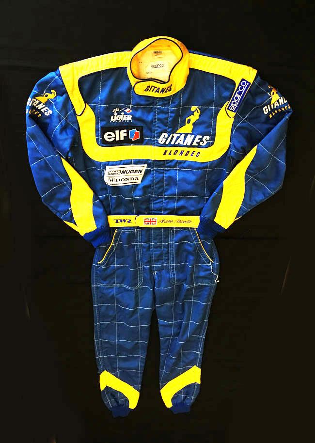マーチン・ブランドル(MartinBrundle)1995年リジェ時代 実使用レーシングスーツ