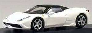 京商オリジナル 1/64 フェラーリ458 スペチアーレ ホワイト(台座/ケース付・組み立てモデル)