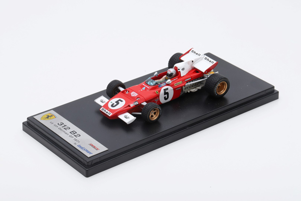 ルックスマート 1/43 フェラーリ 312 B2 M.アンドレッティ 1971年ドイツGP4位 No.5
