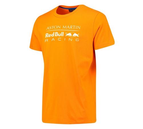 【SALE】ASTON MARTIN REDBULL RACING レッドブルレーシング M.フェルスタッペン パーソナルTシャツ オレンジ 2018Ver