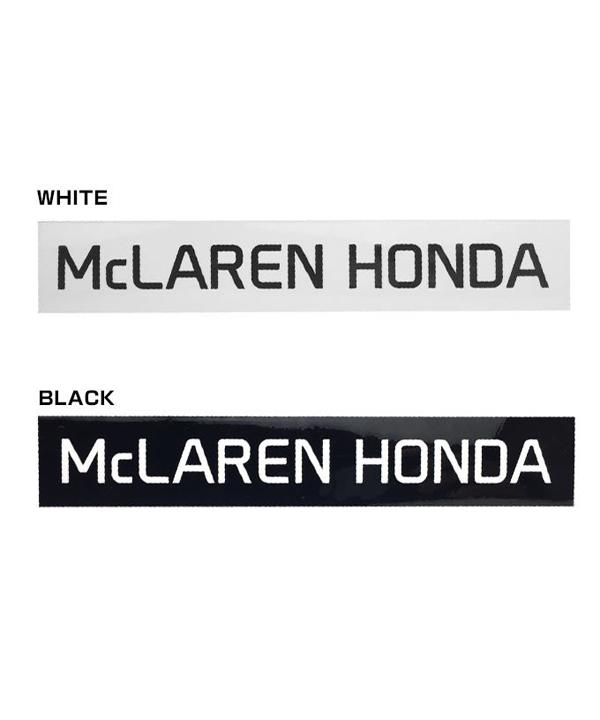 マクラーレン ホンダ 2016 チーム ロゴ ステッカー Lサイズ ホワイト・ブラック (サイズ:15×2.5cm)