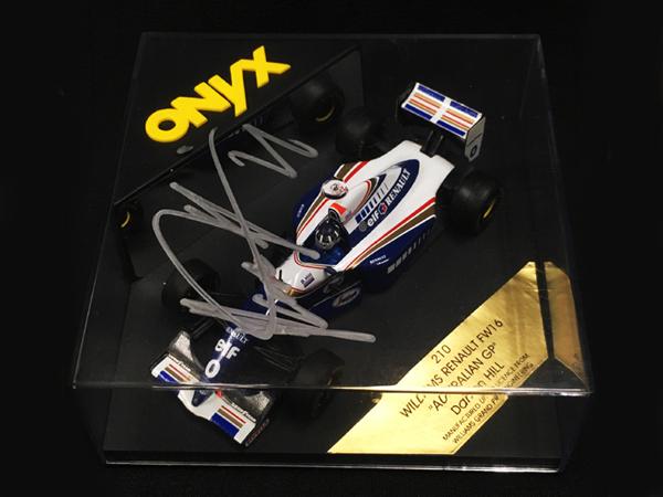 D.ヒル直筆サイン入 オニキス 1/43 ウィリアムズFW16 1994年オーストラリアGP