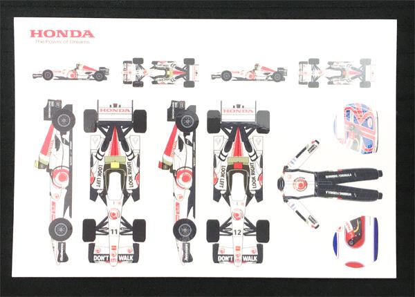 HONDA ホンダ F1 レーシング 2006年 プロモーションステッカーセット(葉書タイプ)