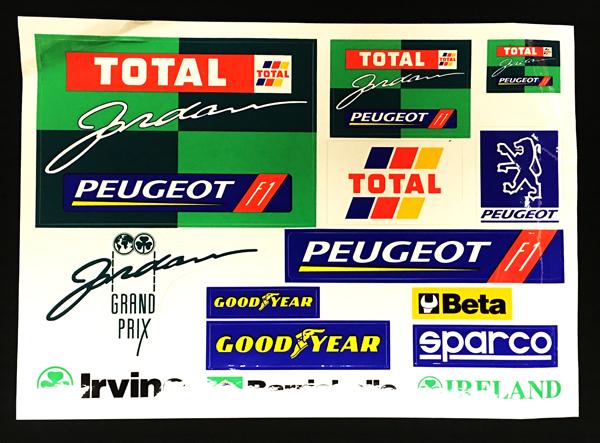 ジョーダン グランプリ 1995年 ステッカーセット
