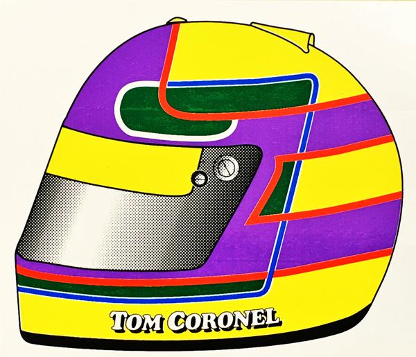 トム・コロネル ヘルメットステッカー