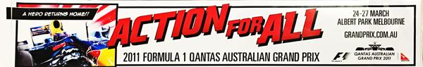 2011年 オーストラリアGP 開催記念ステッカー