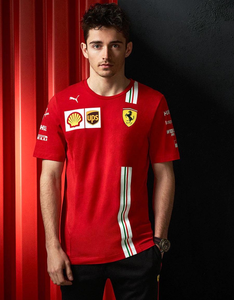PUMA FERRARI 2020SS フェラーリ ドライバーズレプリカ Tシャツ C.ルクレール